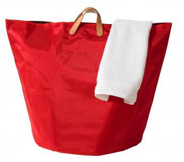 Wäschesammler Wäschetaschen Nylon rot breit Wäschebeutel Wäschesack Wäschekorb Multifunktionstasche