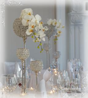 Kristall Kerzenständer Marie2er Set Crystallights Teelichthalter Bling Bling Tischdeko Gastgeschenke Hochzeitsdeko Weihnachten Weihnachten Deko Dekoration silber - Vorschau 4