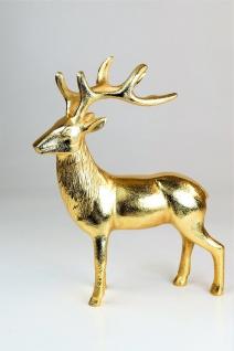 """Deko Hirschfigur """"Rudolph"""" in Gold Tischdeko Gastgeschenke, 8x22x28, 5h"""