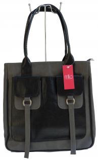 Milla Tasche, Kunstleder grau/schwarz