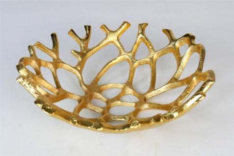 """Aluminium Schale """"Carina"""" (Größe: M) in Gold rund Tischdekoration Hochzeitdekoration Artra Dekoschüssel Deko Dekoschale Dekoration Geschenk"""