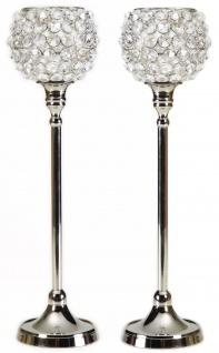 Kristall Kerzenständer Marie M Teelichthalter Kerzenhalter Kerzenleuchter Tischdeko Gastgeschenke silber - Vorschau 2