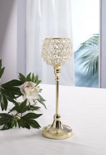 Kristall Kerzenständer Marie M in GOLD Teelichthalter Kerzenhalter Kerzenleuchter Tischdeko Gastgeschenke