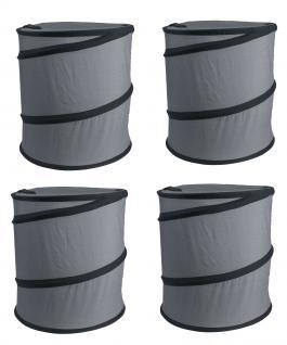 Wäschesack Wäschesammler Jumping Jack 4er SET Wäschetaschen Wäschebox Multifunktionstasche grau