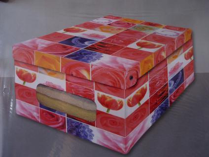 "Deko 3er SET Karton 50 cm groß "" Rosen"" Ordnungsboxen"