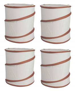 Wäschesack Wäschesammler Jumping Jack 4er SET Wäschetaschen Wäschebox Multifunktionstasche natur braun