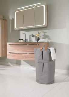 Wäschesammler Wäschetaschen mit Utensilienfächern Grau Wäschebeutel Wäschesack Wäschekorb Multifunktionstasche