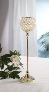 Kristall Kerzenständer Marie L in GOLD Teelichthalter Kerzenhalter Kerzenleuchter Tischdeko Gastgeschenke