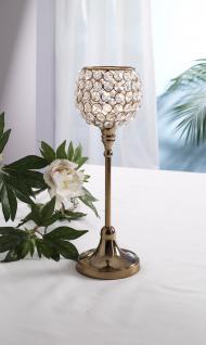 Kristall Kerzenständer Marie M in KUPFER Teelichthalter Kerzenhalter Kerzenleuchter Tischdeko Gastgeschenke