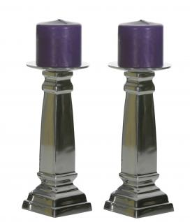Aluminium Kerzenständer 2er Set Block M Teelichthalter Kerzenhalter Kerzenleuchter Tischdeko Gastgeschenke Weihnachten Weihnachten Deko Dekoration Weihnachtsdeko
