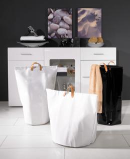 Wäschesammler Wäschetaschen Lack schwarz Wäschebeutel Wäschesack Wäschekorb Multifunktionstasche - Vorschau 4