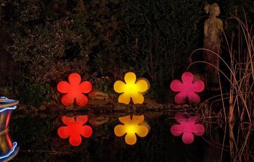 Leuchtende Blume Shining Flower Leuchtobjekt Indoor & Outdoor Violett