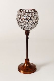 Kristall Kerzenständer Marie M in Braun eelichthalter Kerzenhalter Kerzenleuchter Tischdeko Gastgeschenke