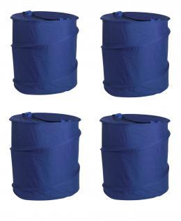 Wäschesack Wäschesammler Jumping Jack 4er SET Wäschetaschen Wäschebox Multifunktionstasche blau