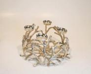 Aluminium Kerzenständer LILY - 4 Teelichthalter, Kerzenhalter, Kerzenleuchter, Tischdeko und Gastgeschenk
