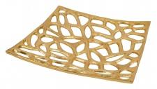 """Aluminium Fruchtschale """"Alma"""" in Gold Tischdekoration Hochzeitdekoration Artra Dekoschüssel Deko Dekoschale Dekoration Geschenk"""