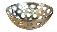 Aluminium Schale Loch-Design Silber Rund Tischdekoration Hochzeitdekoration Artra Dekoschüssel Deko Dekoschale Dekoration Geschenk Weihnachten Weihnachten Deko Dekoration Weihnachtsdeko