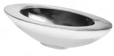 """Aluminium Schale """"Oval"""" - Doppelwandig, Dekoschale, Tischdekoration, Hochzeitdekoration und Geschenk"""