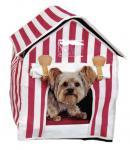 Hunde Katze Haus Cabina Miau rot-weiß