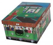 Deko-Karton Bauli Ordnungsboxen Motiv Tram Aufbewahrungsbox für Haushalt Büro Wäsche Geschenkbox Dekokarton Sammelbox Mehrzweckbox Ordnungskarton Ordnungsbox Geschenkekarton