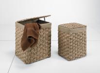 Aufbewahrungskörbe Wäschesammler Zopfgeflecht 2er SET hellbraun Wäschesammler Wäschebehälter Wäschesortierer Wäschetruhe Wäschetonne Wäschebox
