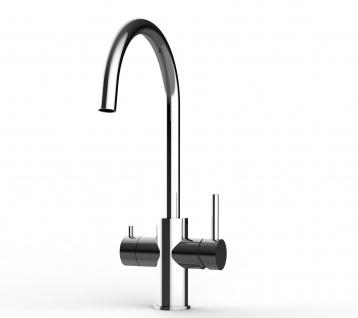 5 wege Edelstahl Küchenmischer Wasserhahn Armatur für Filtersysteme - Edelstahl Hochglanz - Vorschau 4