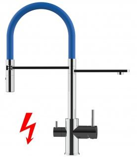 blau NIEDERDRUCK 3 wege Küchenmischer Wasserhahn Armatur für Filtersysteme - 2 strahl Handbrause