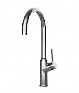 Design Küchenarmatur chrom Wasserhahn mit 360° schwenkbarem Auslauf