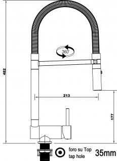 Türkis Tiffany NIEDERDRUCK Küchenarmatur Edelstahl-Stahlfeder Chrom - 2 strahl Handbrause, Küchenmischer Unterfenster, Abklappbare, Absenkbare, Spültischarmatur, Spülenmischer, Wasserhahn Küche, Vorfenstermontage, nur 6cm hoch, direkt vom Hersteller - Vorschau 2