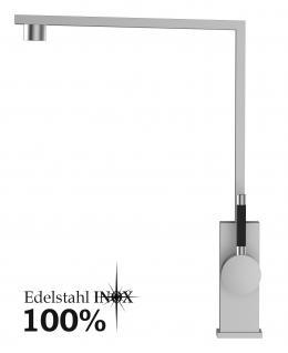 EDELSTAHL Küchenarmatur, Küchenmischer, Spültischarmatur, Spülenmischer, Wasserhahn Küche, Spültischmischer, Design, Top Qualität direkt vom Hersteller.