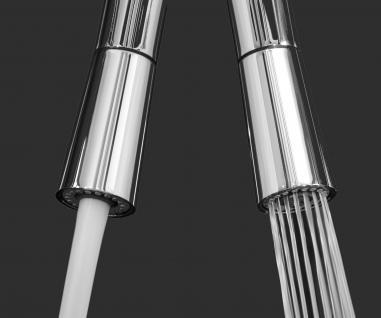 blau NIEDERDRUCK Küchenarmatur Edelstahl-Stahlfeder Chrom - 2 strahl Handbrause, Küchenmischer Unterfenster, Abklappbare, Absenkbare, Vorfenster, Spültischarmatur, Spülenmischer, Wasserhahn Küche, Vorfenstermontage, nur 6cm hoch, direkt vom Hersteller - Vorschau 5