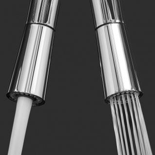 Unterfenster Armatur Wasserhahn abschwenbar auf nur 58mm 2strahl Handbrause - Griff auf linker Seite - blau - Vorschau 4