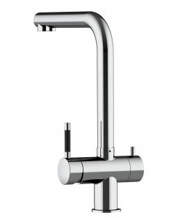 3 wege Edelstahl Küchenmischer Wasserhahn Armatur für Filtersysteme - Edelstahl Hochglanz - Vorschau 4