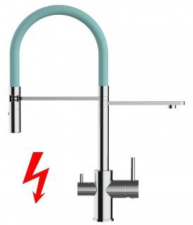 türkis NIEDERDRUCK 3 wege Küchenmischer Wasserhahn Armatur für Filtersysteme - 2 strahl Handbrause