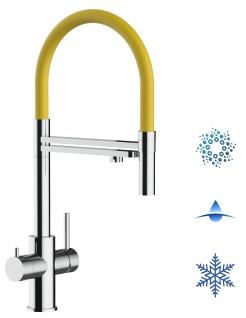 gelb 5 wege Edelstahl Küchenmischer Wasserhahn Armatur Hochglanz-Finish - abnehmbarer 2strahl Brause