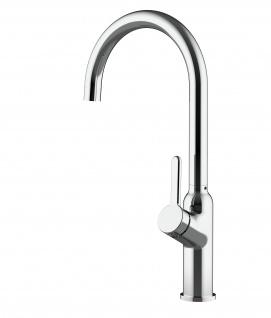 Design Küchenarmatur chrom Wasserhahn mit 360° schwenkbarem Auslauf - Vorschau 4
