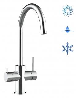5 wege Edelstahl Küchenmischer Wasserhahn Armatur für Filtersysteme - Edelstahl Hochglanz