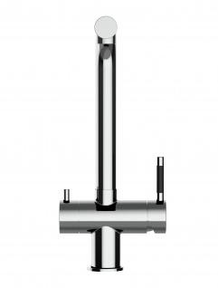 3 wege Edelstahl Küchenmischer Wasserhahn Armatur für Filtersysteme - Edelstahl Hochglanz - Vorschau 5
