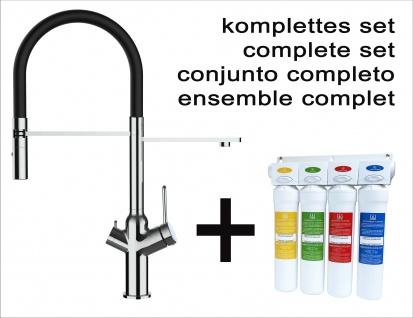 Vollständiges Wasserfilter system + VZBF018102 3-wege Küchenmischer mit 2strahl Handbrause