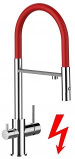 rot NIEDERDRUCK 3 wege Küchenmischer Wasserhahn Armatur für Filtersysteme - 2 strahl Handbrause