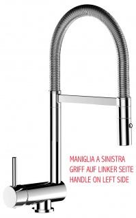 Unterfenster Armatur Wasserhahn abschwenbar auf nur 58mm 2strahl Handbrause - Griff auf linker Seite