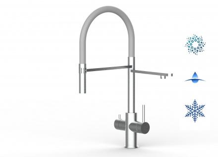 grau 5 wege Edelstahl gebürstet Küchenmischer Wasserhahn Armatur - abnehmbarer 2strahl Brause