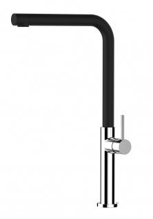 Minimalistisch Design Küchenmischer mit Granit schwarz 360° schwenkbarem Auslauf