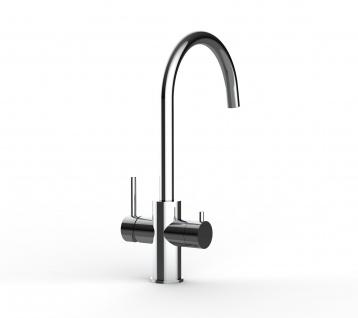 5 wege Edelstahl Küchenmischer Wasserhahn Armatur für Filtersysteme - Edelstahl Hochglanz - Vorschau 5