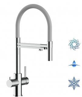 grau 5 wege Edelstahl Küchenmischer Wasserhahn Armatur Hochglanz-Finish - abnehmbarer 2strahl Brause