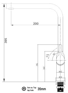 Design Küchenarmatur chrom Wasserhahn mit 360° schwenkbarem Auslauf - Vorschau 2
