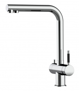 3 wege Edelstahl Küchenmischer Wasserhahn Armatur für Filtersysteme - Edelstahl Hochglanz - Vorschau 3