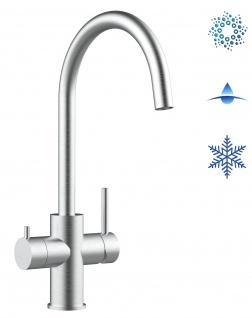 5 wege Edelstahl Küchenmischer Wasserhahn Armatur für Filtersysteme - gebürstetes Stahl-Finish