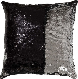 My BLING CUSHION Zierkissen, 100 % Polyester, Schwarz