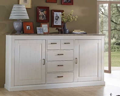 Lima Sideboard montiert Pinie hell / Taupe